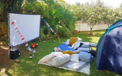 Open Air Outdoor Cinema Experience in your own garden with Marbella Party Central