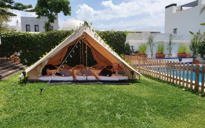 Big Bell Tent sleepover for 10 boys in Marbella